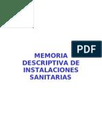 0 - Memoria Edificio ( Sanitarias )