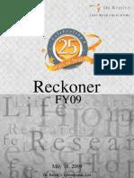 Dr. Reddy's FY09 Financial Reckoner