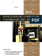 Evolucion de La Volsa de Valores de Lima en El Peridodo 2005 - 2012.Final