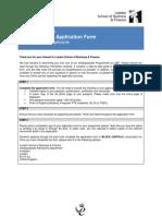 LSBF BSc Undergraduate Application Form