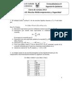 PROBLEMARIO TERMODINÁMICA 2. Mezclas Multicomponentes y Fugacidad