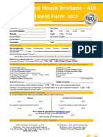 호주 IH 입학신청서  Application Form 2013