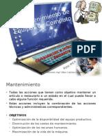 Mantenimiento de PCs 2013