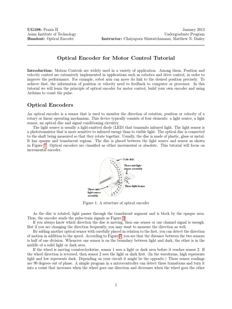 01 Encoder | Optics | Electrical Engineering