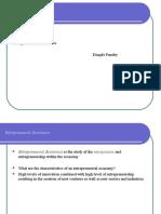 Entrepreneurial Economics