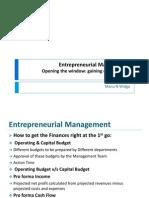 Entrepreneurial Management - III