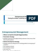 Entrepreneurial Management - IV