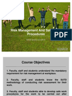 STC5 Risk Management and Safe Work Procedure