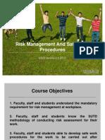 STC5 Risk Management and Safe Work Procedure