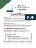 GRE PREP Ten Steps to Success