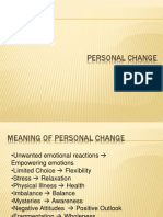 BMM Personal Change