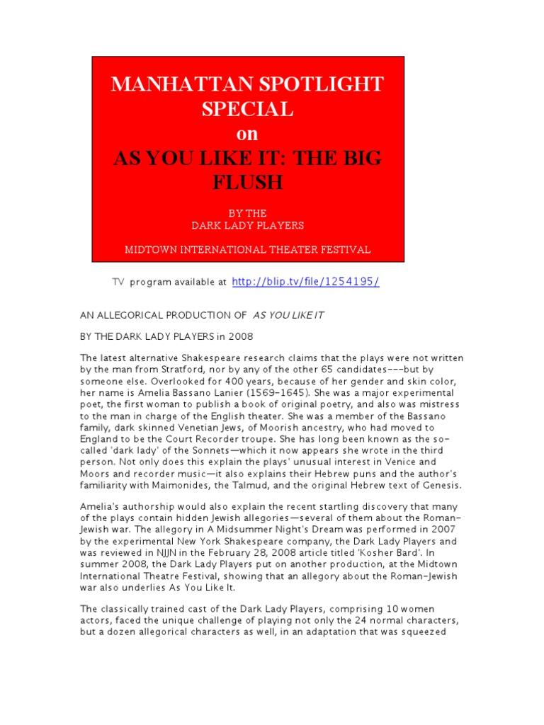 as you like it shakespeare pdf