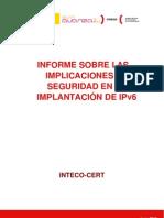Informe sobre las implicaciones de seguridad en la Implantación de IPv6