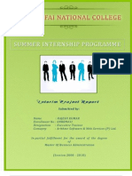 Intrim Report Of Summer Internship