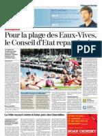 Pour la plage des EauxVives, le Conseil d'Etat repart à zéro