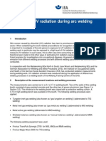 Emmission of UV Radiation During Arc Welding