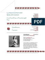 Gomukhasana and Marjaryasana