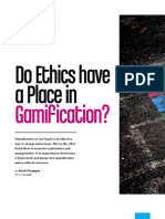 Do Ethics Have a Place in Gamification