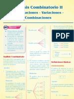 Sem 4 - Análisis combinatorio II - permutaciones variaciones combinaciones