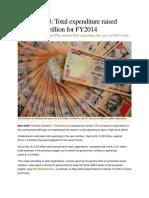 Budget Highlights 2013-14