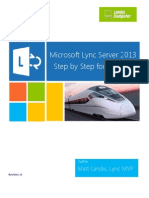Microsoft Lync Server 2013 Step by Step for Anyone_REV2013