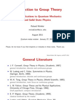 lecture slides on group theory