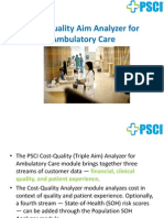 Cost-Quality Analyzer For Ambulatory Care