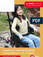 Contact a Family - A guide to claiming Disability Living Allowance for children