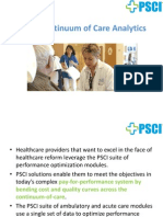 PSCI Continuum of Care Analytics