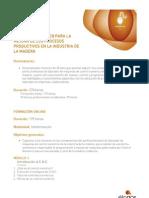 CURSO. CONTROL NUMÉRICO PARA LA MEJORA DE LOS PROCESOS PRODUCTIVOS EN LA INDUSTRIA DE LA MADERA.