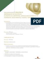 CURSO. CREACIÓN DE EMPRESAS DE INSTALACIÓN DE ELEMENTOS DE CARPINTERÍA.
