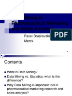 Session 3D Data Mining in Pharmaceutical Marketing
