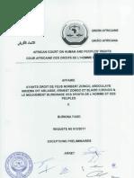 Burkina Faso Assassinat de Norbert Zongo