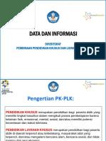 Data dan informasi pklk 2016