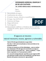 Tema 9 (1ª parte) Necesidades hídricas de los cultivos Alumnos Min