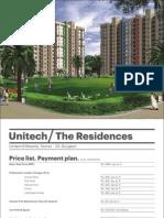The Residences Pricelist Gurgaon