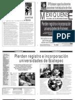 Versión impresa del periódico El mexiquense  25 julio 2013