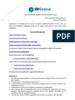 SBI General Insurance Job Notice 2013