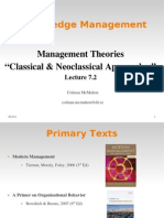 KM 7.2 Management Classical-Neoclassical