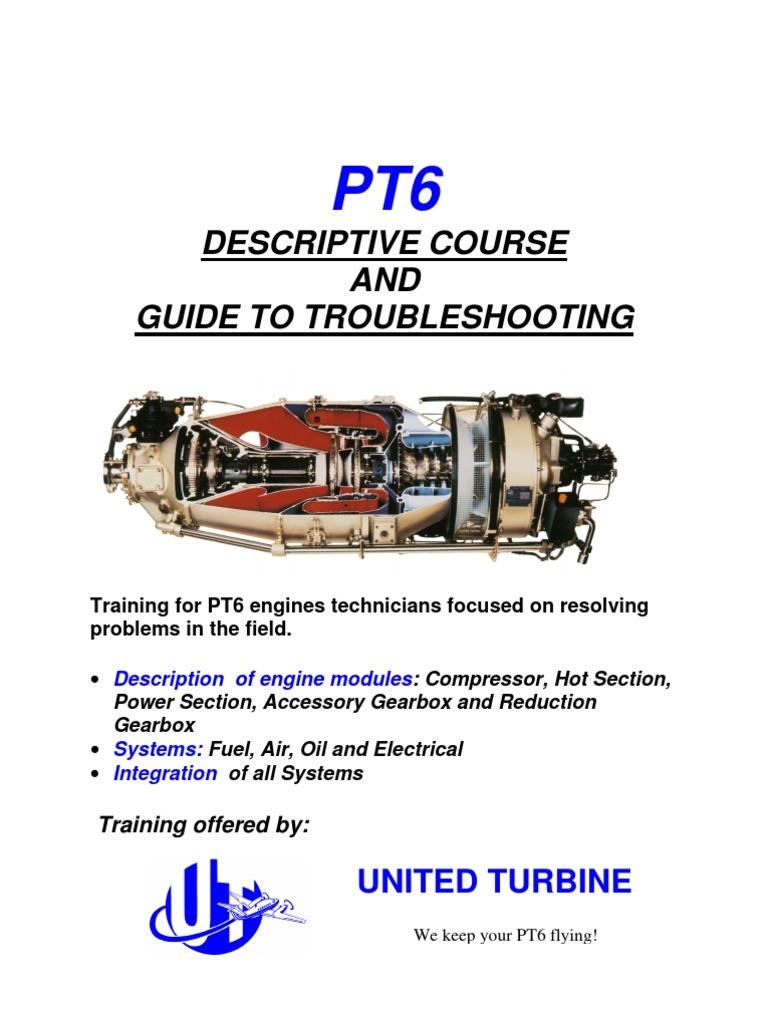 pt6 training manual gas compressor transmission mechanics rh pt scribd com