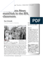 Using Photo News Materials in the EFL Classroom