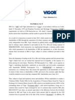Voluntary Public Tender Offer for the Acquisition of Common Shares Issued by Vigor in Exchange for Common Shares Issued by JBS