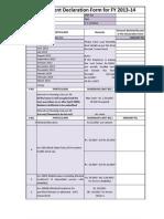 Investment Declaration Form -1314 - Ishita