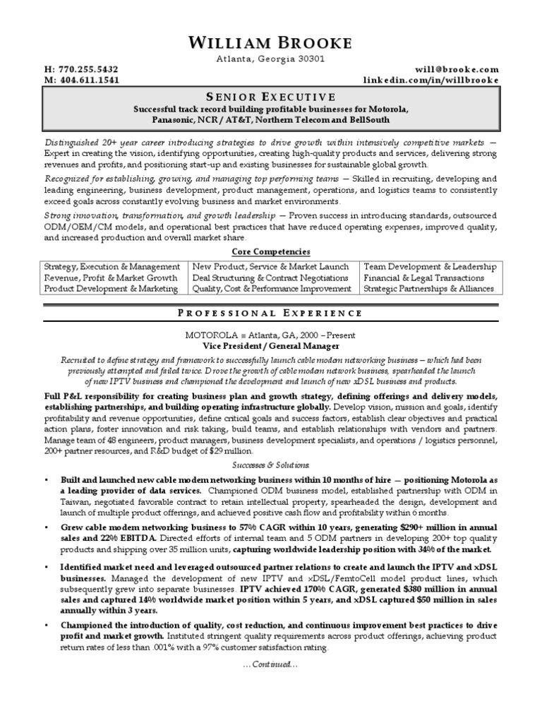 sampleceoresume2pdf  strategic management  iptv