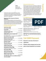 Fall 2009 Credit Schedule