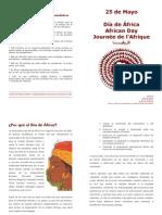 Folleto África 25 de Mayo
