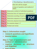 Procedure for Developing a Quesionnaire ppt