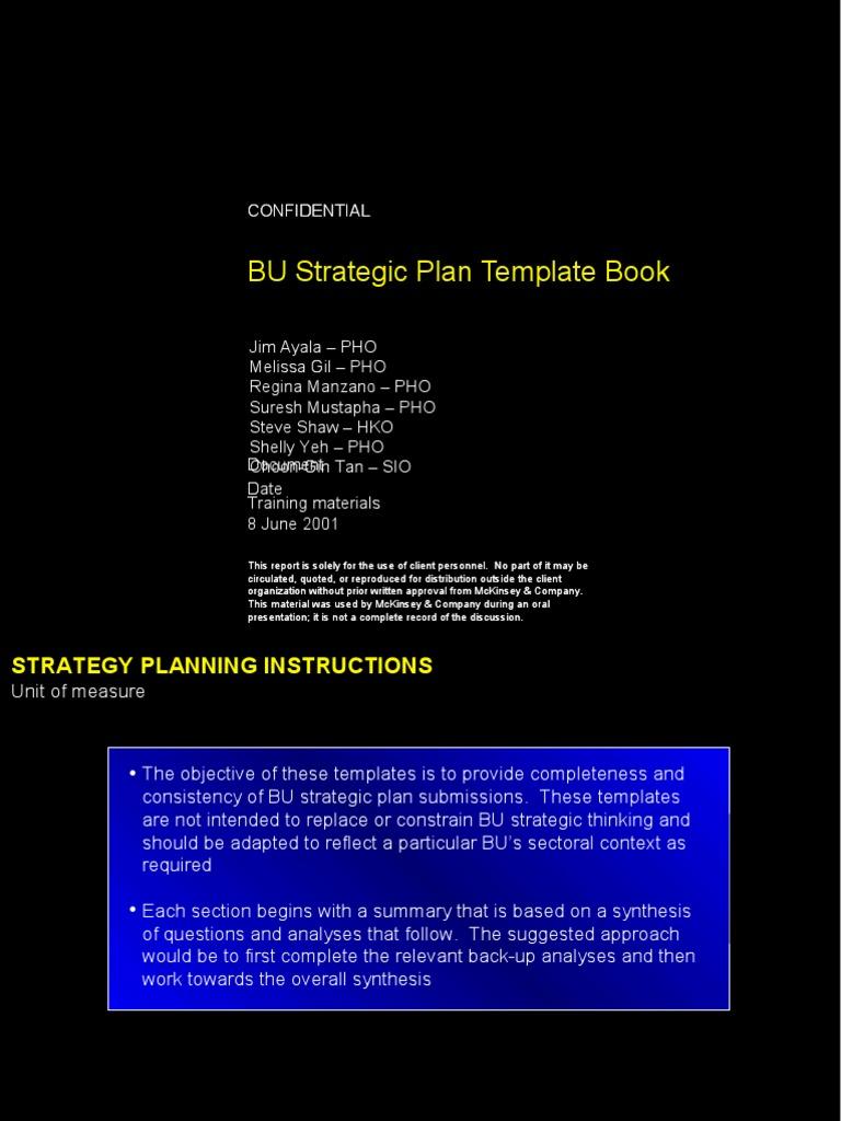 BU Strategic Plan Template Book | Cash Flow Statement | Revenue