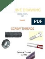 Machine Drawing S3 Mech [Class 2]