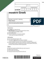 Edexcel IGCSE Greek June 2013 paper